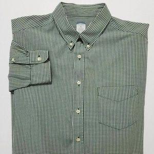 OLD NAVY Mens Green Checked Shirt